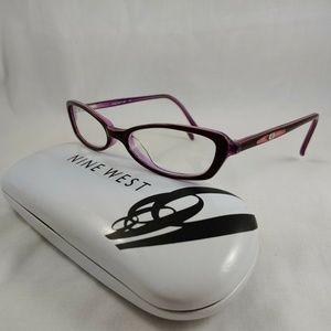 NINE WEST Rx Eyeglass Frames Oval Purple Junior